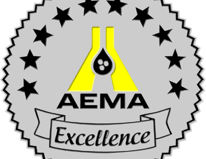 Logo for AEMA's award of Excellence.