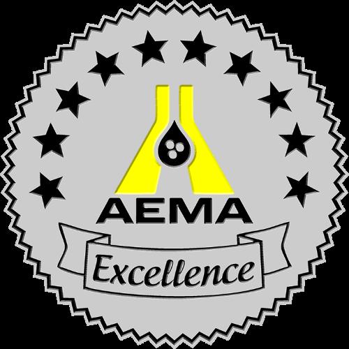 Logo for AEMA's award of Excellence.