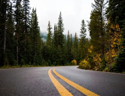 A road cuts through Northern California, a region that Albina Asphalt has been growing their asphalt pavement customer base in recent years.